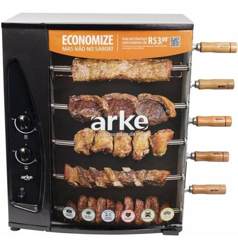 Churrasqueira À Gás Rotativa Com 5 Espetos Agr-05 Arke