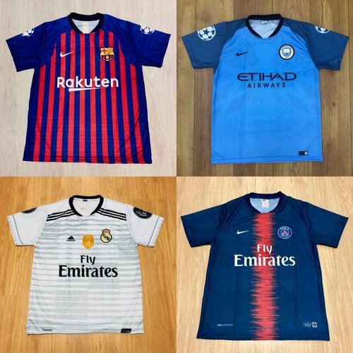 0b17ecc7d1 Kit 7 Camisetas De Time Atacado Futebol 100 Modelos 2018. R  147.99