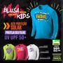 Blusa Infantil Com Proteção Ultra Violeta Uv Upf 50+criança