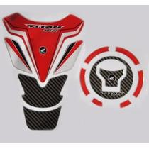 Protetor Tank Pad Top Tanque Bocal Moto Honda Titan 160 M03