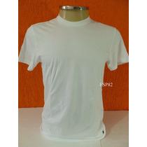 Camisa Básica Tam M Gola Redonda 100% Algodão Com Logo