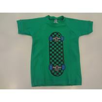 Camiseta Praia Skate - Cara De Criança