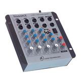 Mesa De Som Mixer Nanomix Ll Audio Na402r 4 Canais