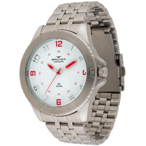 Relógio Masculino Backer 6400153m Br Dortmund Prata