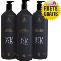 Kit Bsk Escova Progressiva Sem Formol 3x1 L - Frete Grátis