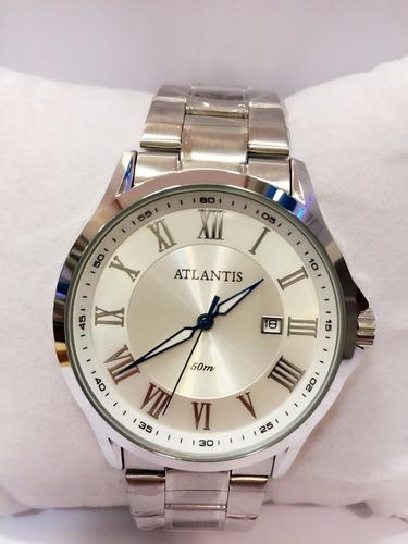 a802aae0ec05a Relógio Masculino Original Atlantis Romano Pulso Atacado