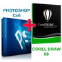 Corel Draw X8 + Photoshop Cs6 +vetores