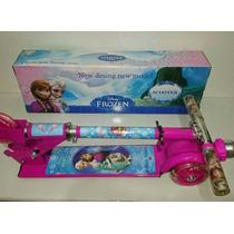 Patinete Infantil Frozen 3 Rodas Com Buz Lançamento Barato