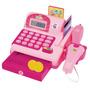 Caixa Registradora Calculadora Infantil Som E Luzes Moedas