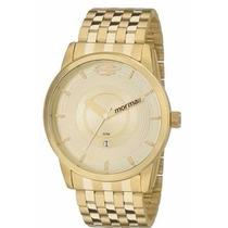 Relógio Mormaii Mo2115ac/4d Estilo Nixon Dourado
