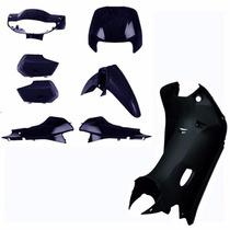 Kit Plastico Carenagem P/ Biz 100 Ano 2000 - Azul Metalico