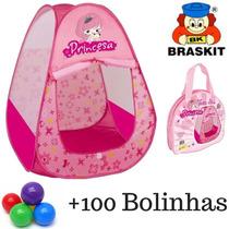 Toca Barraca Infantil Princesa Braskit + 100 Bolinhas