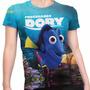 Camiseta Baby Look Filme Procurando Dory Animação Md01