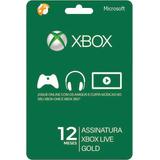 Xbox Live Gold 12 Meses Código 25 Dígitos Xbox One 360