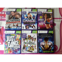 Combo De Jogos Para Kinect Xbox 360 Originais