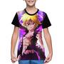 Camiseta/camisa Infantil Os Sete Pecados Capitais- Meliodas Original