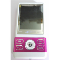 Mp4 Mp3 2g Fm Marca Digital Player Rosa Com Branco Nfe