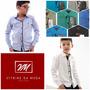 Camisa Infantil Alfa Sem Bolso Tecido Liso 7 Cores Top 170