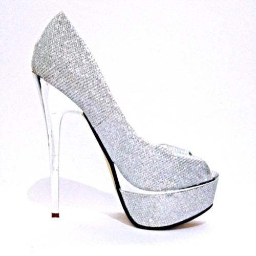 9d3ad6e1d Sapato Feminino Salto Alto Pedras Brilhante Luxo - 012