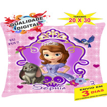 30 Almofadas Personalizadas 20x30 Lembrança Princesa Sofia