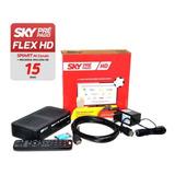 Receptor Sky Pre Pago Flex Hd Livre 12 Meses C/ Globo & Sbt