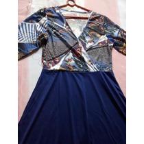 Vestido Estampado Azul, Ótimo Neste Verão!!!aproveite!!