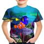 Camiseta Infantil Filme Procurando Nemo Animação Md02