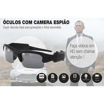 Óculos De Sol Espião C/ Câmera Espiã Resolução 1280 X 720p