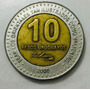 Moeda Uruguai 10 Pesos Uruguaios Ano 2000 1764 1850