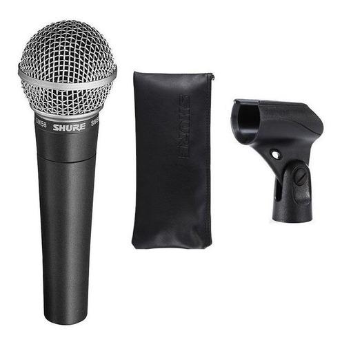 Microfone Com Acessórios Shure Sm58 Dinâmico