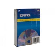 Dvd Case - Pack Of 6 Preto Cd Armazenamento Organizador Oblo
