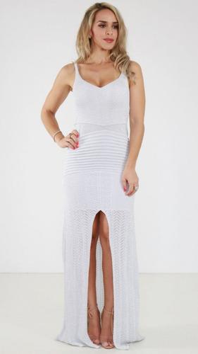 0866919200 Vestido Exclusiva Tricô Cinza Lurex Pv19