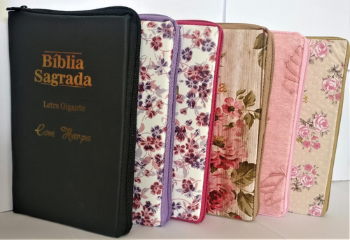 Bíblia Sagrada Com Harpa Letras Gigante Ziper