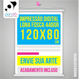 Banner Faixa Lona Personalizada; 120 X 80cm; 1,2x0,8 M; 440g