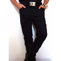 Calca Jeans Calvin Klein Skinny Com Lycra Black Edition Fg!