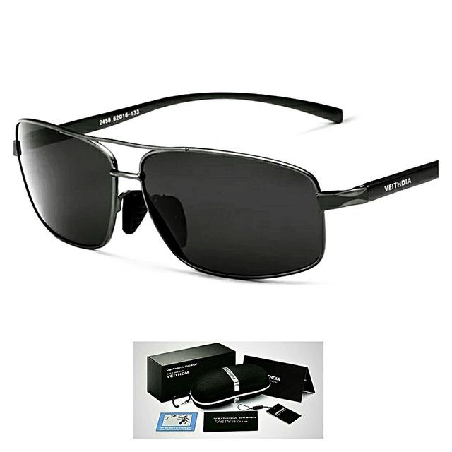 44a0e67117986 Óculos De Sol Quadrado Masculino Polarizado Veithdia Origna em ...