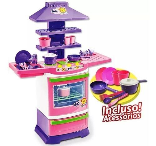 Promoção!! Cozinha Infantil Completa Fogãozinho Panelinha