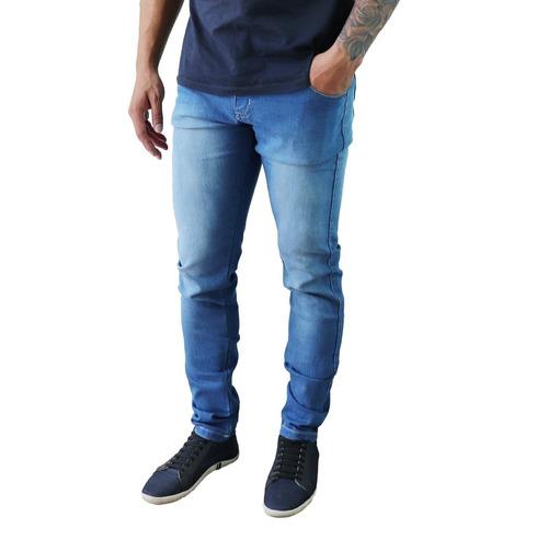 c72c202f2 Kit Com 3 Calças Jeans Sarja Masculina Slim Skinny Lycra. R  149