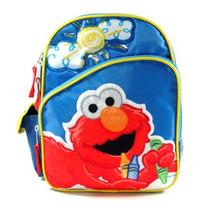 Mini-mochila Escolar Vila Sésamo, Elmo, Sol Grande - 078632