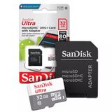 Cartão Micro Sdhc 32gb Ultra Sd Classe 10 80mb/s Original