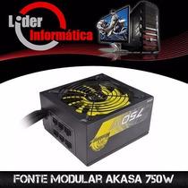 Fonte Modular Akasa 750w 80% Eficiência Promoção!!!!!