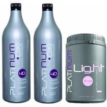 Pó Descolorante Platinum Light + 2 Água Oxigenada Felithi