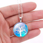Amuleto Da Sorte Com Pingente Árvore Da Vida Gargantilha ,