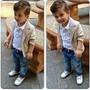 Conjunto Blazer Slim Fit Luxo Social Menino Garoto Infantil