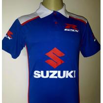 Camiseta Gola Polo Moto Suzuki Gsx Tam. P
