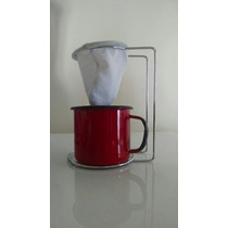 Mini-coador De Café+ Suporte Cromado+ Xícara Ewell + Brinde