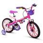 Bicicleta Infantil Aro 16 Feminina Top Girls - Menor Preço