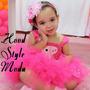 Vestido E Tiara Peppa Pig Pink Infantil Disney Crianca Bebes