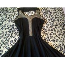 Vestido Preto Com Telinha M