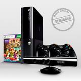 Xbox 360 Slim Seminovo + Kinect + 2 Controles + Jogo
